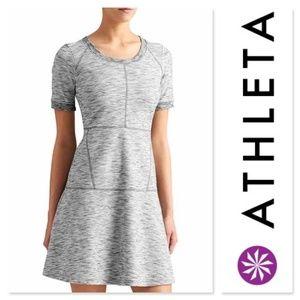 NWOT I•ATHLETA•I En Route Heather Grey Dress